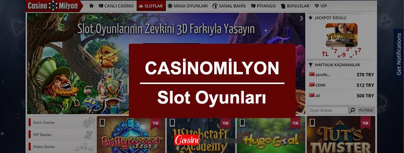 Casinomilyon Slot Oyunları